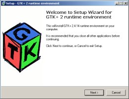 Installation de GTK+ pour Windows