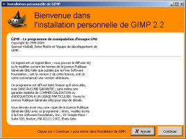 1er lancement de The Gimp